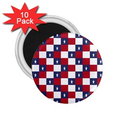 American Flag Star White Red Blue 2 25  Magnets (10 Pack)  by Mariart