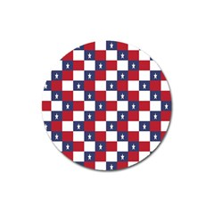 American Flag Star White Red Blue Magnet 3  (round) by Mariart