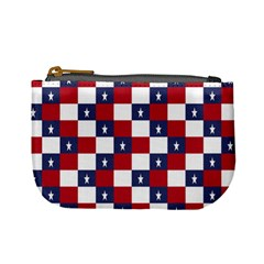 American Flag Star White Red Blue Mini Coin Purses by Mariart