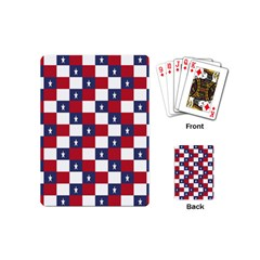 American Flag Star White Red Blue Playing Cards (mini)  by Mariart