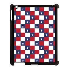 American Flag Star White Red Blue Apple Ipad 3/4 Case (black) by Mariart