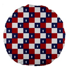 American Flag Star White Red Blue Large 18  Premium Round Cushions by Mariart