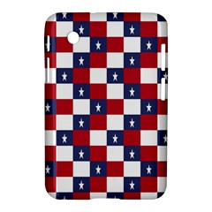 American Flag Star White Red Blue Samsung Galaxy Tab 2 (7 ) P3100 Hardshell Case  by Mariart