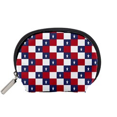 American Flag Star White Red Blue Accessory Pouches (small)  by Mariart