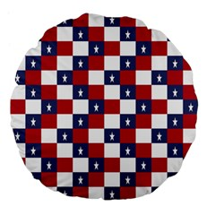 American Flag Star White Red Blue Large 18  Premium Flano Round Cushions by Mariart
