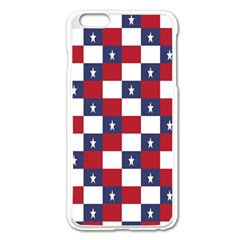 American Flag Star White Red Blue Apple Iphone 6 Plus/6s Plus Enamel White Case by Mariart