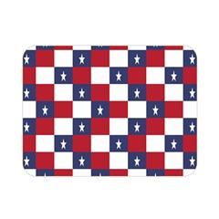 American Flag Star White Red Blue Double Sided Flano Blanket (mini)