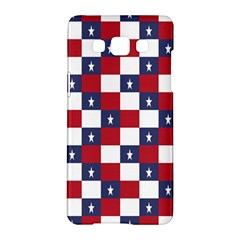 American Flag Star White Red Blue Samsung Galaxy A5 Hardshell Case  by Mariart
