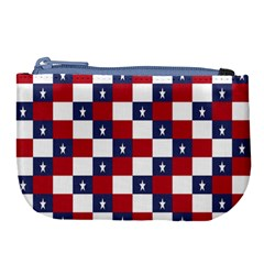 American Flag Star White Red Blue Large Coin Purse by Mariart