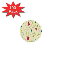 Background  With Lines Triangles 1  Mini Buttons (100 Pack)  by Mariart