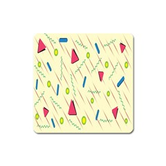 Background  With Lines Triangles Square Magnet by Mariart
