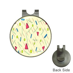 Background  With Lines Triangles Hat Clips With Golf Markers by Mariart