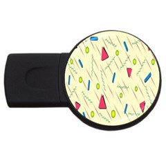 Background  With Lines Triangles Usb Flash Drive Round (4 Gb) by Mariart