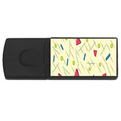 Background  With Lines Triangles Rectangular Usb Flash Drive by Mariart