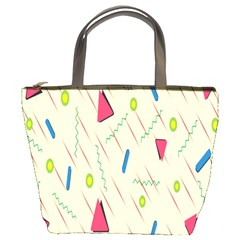 Background  With Lines Triangles Bucket Bags by Mariart