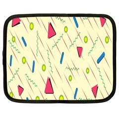 Background  With Lines Triangles Netbook Case (xxl)  by Mariart