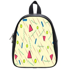 Background  With Lines Triangles School Bag (small) by Mariart