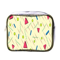 Background  With Lines Triangles Mini Toiletries Bags by Mariart
