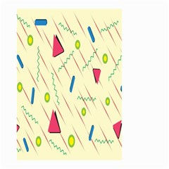 Background  With Lines Triangles Small Garden Flag (two Sides)