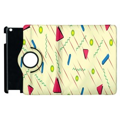 Background  With Lines Triangles Apple Ipad 3/4 Flip 360 Case by Mariart