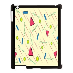 Background  With Lines Triangles Apple Ipad 3/4 Case (black) by Mariart