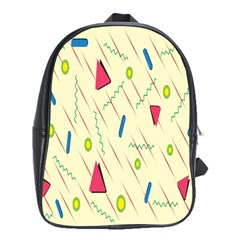 Background  With Lines Triangles School Bag (xl)