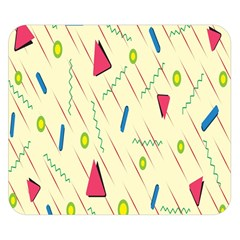 Background  With Lines Triangles Double Sided Flano Blanket (small)  by Mariart