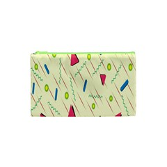 Background  With Lines Triangles Cosmetic Bag (xs) by Mariart