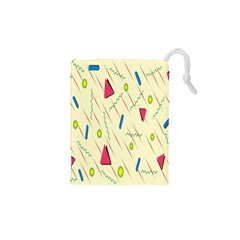 Background  With Lines Triangles Drawstring Pouches (xs)  by Mariart