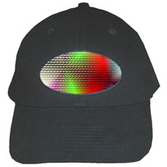 Abstract Rainbow Pattern Colorful Stars Space Black Cap by Mariart