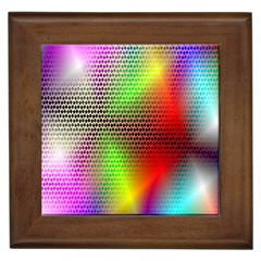 Abstract Rainbow Pattern Colorful Stars Space Framed Tiles by Mariart