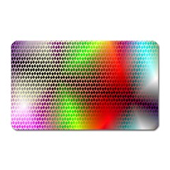 Abstract Rainbow Pattern Colorful Stars Space Magnet (rectangular)