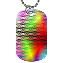 Abstract Rainbow Pattern Colorful Stars Space Dog Tag (one Side) by Mariart