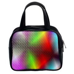 Abstract Rainbow Pattern Colorful Stars Space Classic Handbags (2 Sides) by Mariart