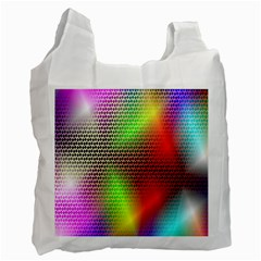Abstract Rainbow Pattern Colorful Stars Space Recycle Bag (one Side) by Mariart
