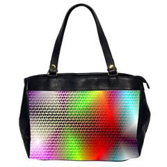 Abstract Rainbow Pattern Colorful Stars Space Office Handbags (2 Sides)  by Mariart