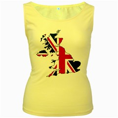 Britain Flag England Nations Women s Yellow Tank Top by Mariart
