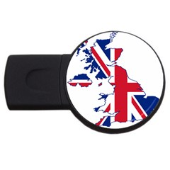 Britain Flag England Nations Usb Flash Drive Round (4 Gb)