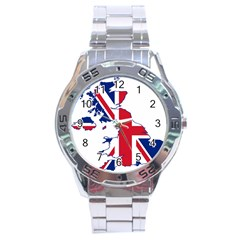 Britain Flag England Nations Stainless Steel Analogue Watch by Mariart