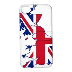Britain Flag England Nations Apple Iphone 4/4s Hardshell Case With Stand by Mariart