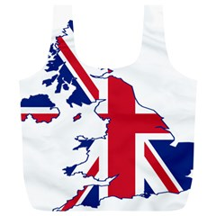 Britain Flag England Nations Full Print Recycle Bags (l)  by Mariart