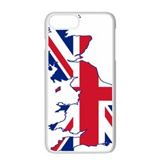 Britain Flag England Nations Apple Iphone 7 Plus White Seamless Case