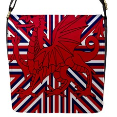 Alternatively Mega British America Red Dragon Flap Messenger Bag (s) by Mariart