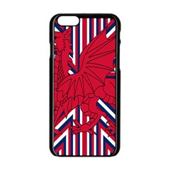 Alternatively Mega British America Red Dragon Apple Iphone 6/6s Black Enamel Case by Mariart