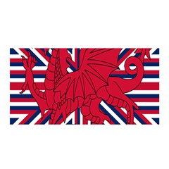 Alternatively Mega British America Red Dragon Satin Wrap by Mariart
