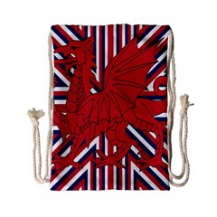 Alternatively Mega British America Red Dragon Drawstring Bag (small)