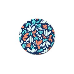 Blue Tossed Flower Floral Golf Ball Marker (10 Pack) by Mariart