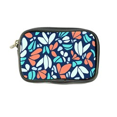 Blue Tossed Flower Floral Coin Purse