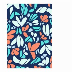 Blue Tossed Flower Floral Small Garden Flag (two Sides) by Mariart