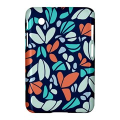 Blue Tossed Flower Floral Samsung Galaxy Tab 2 (7 ) P3100 Hardshell Case  by Mariart